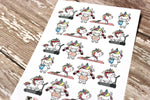 Unicorn Planner Stickers - Workout