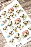 Pug Stickers - Everyday Planner Stickers