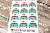 Car Payment Planner Stickers