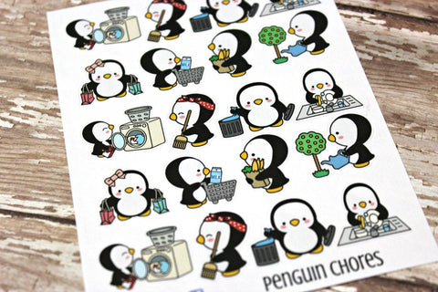 Penguin Stickers - Chore planner Stickers
