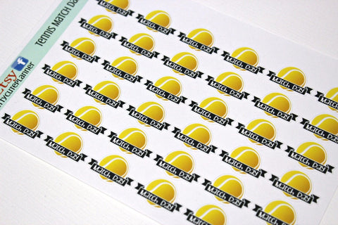 Tennis Match Planner Stickers