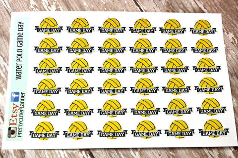 Water Polo Game Planner Stickers