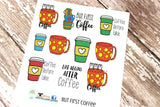 But First, Coffee Planner Stickers