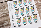 Misty Mermaid Cleaning Stickers