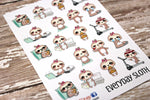 Every Day Sloth Planner Stickers