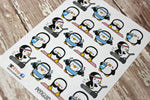 Penguin Stickers - Workout Stickers