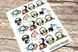 Penguin Stickers - Everyday Planner Stickers