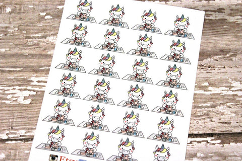 Unicorn Chore Planner Stickers - Washing Dishes