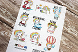 Zumi Unicorn Planner Stickers - Sampler