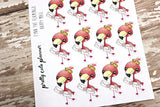 Fynn the Flamingo Happy Mail Stickers