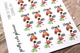 Fynn Flamingo Cleaning stickers