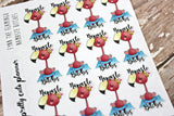 Fynn Flamingo Yoga Planner Stickers - Namaste