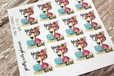 Fynn The Flamingo Work Tracking Stickers