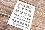 Script Planner stickers - Fitness