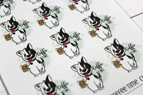Charlie Coffee Time Planner Stickers