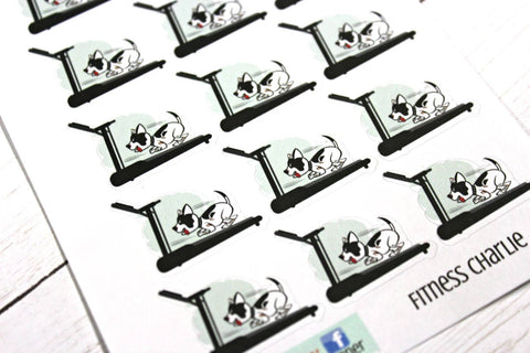 Charlie Treadmill Planner Stickers