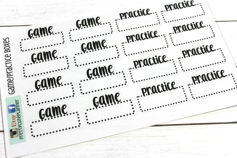 Game Day Stickers