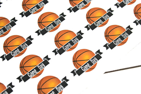 Basketball Game Day Stickers