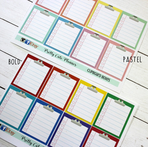 Clipboard Full Box Planner Stickers
