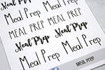 Script Meal Prep Stickers