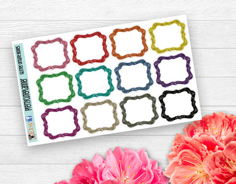 Glitter Boxes Planner Stickers
