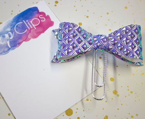 Opal Diamond Holographic Bow Planner Clip