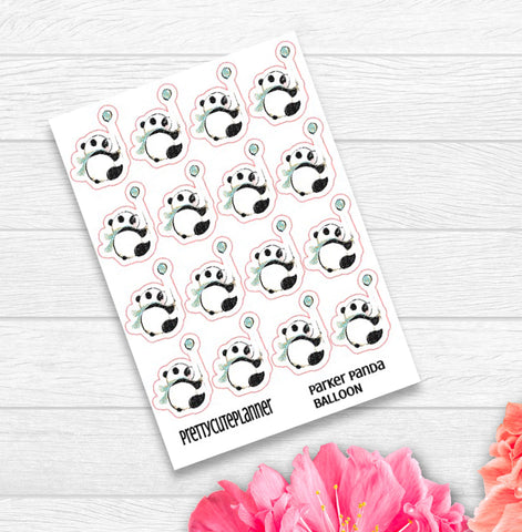 Parker Panda Balloon Stickers