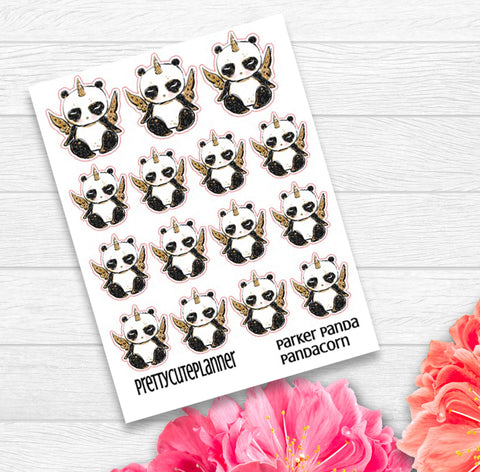 Parker Panda Stickers - PandaCorn Stickers