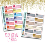 Rainbow or Neutral Quarter Box Planner Stickers
