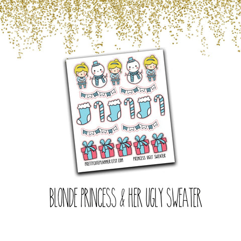 Doodle Blonde Princess Stickers