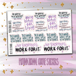 Doodle Motivational Quotes Planner Stickers