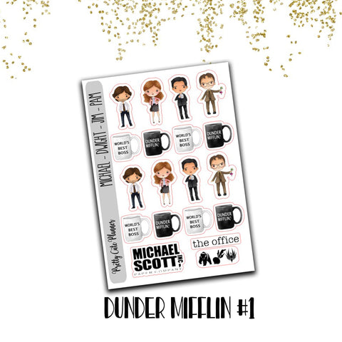 The Office Planner Stickers - Dunder Mifflin Stickers