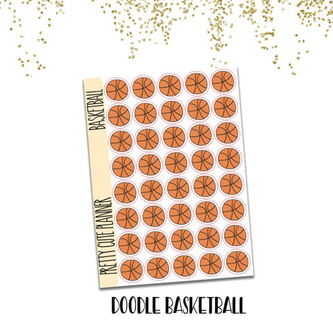 Doodle Basketball Stickers