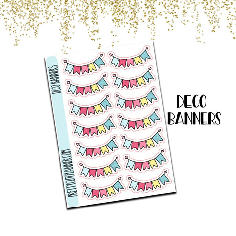 Doodle Banner Planner Stickers