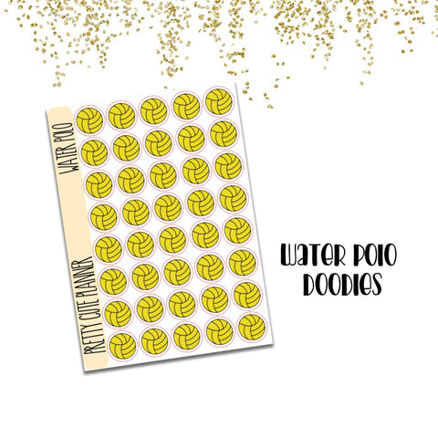 Doodle Water Polo Planner Stickers