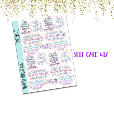 Doodle Self Care Planner Stickers #12