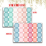 Doodle Small Scallop Box Planner Stickers