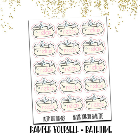 Doodle Pamper yourself Bathtub stickers