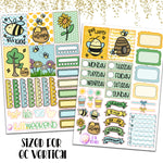 "1.5"" Standard Vertical  The Bees Knees Weekly Planner Stickers"