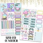 "1.5"" Standard Vertical  Summertime Weekly Planner Stickers"