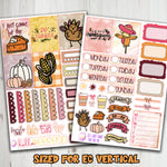 "1.5"" Standard Vertical  I came for the Pie Weekly Planner Stickers"