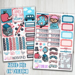 EC Vertical School Days Weekly Planner Sticker