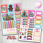 "1.5"" Standard Vertical  Ugly Christmas Sweater Weekly Planner Stickers"