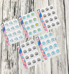 Micro Happy Planner stickers - Weather