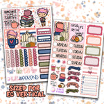 "1.5"" Standard Vertical  Grab Life By the Beans Weekly Planner Stickers"