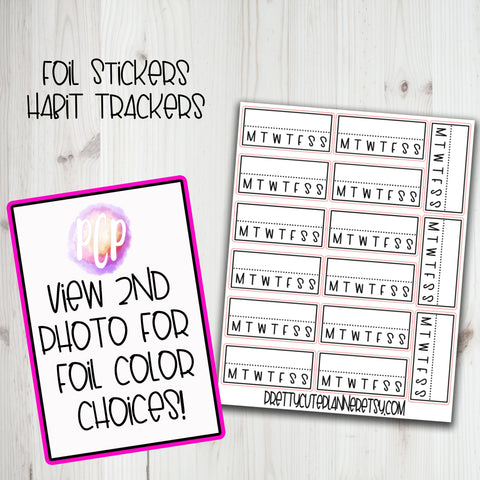 Foiled Habit Tracker Sticker