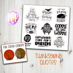 Foil Thanksgiving Quote stickers
