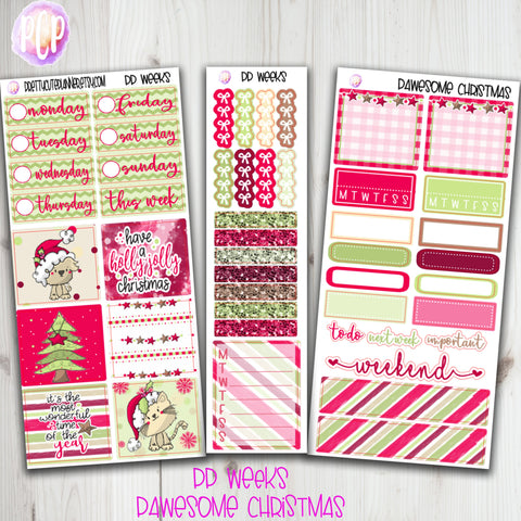 PP Weeks Pawesome Christmas Planner Stickers