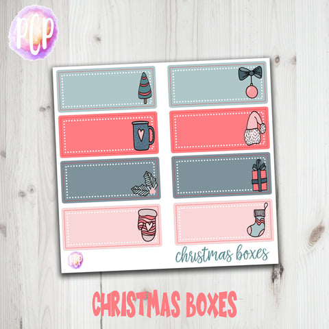 Christmas Box Planner Stickers 2 - Hand Drawn Stickers