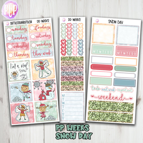 PP Weeks Snow Day Weekly Planner stickers